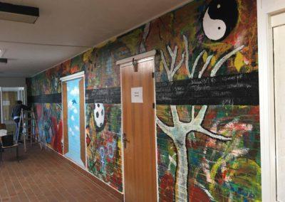 Tidligere væg på skolen
