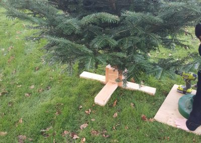 Hjemmelavet juletræsfod