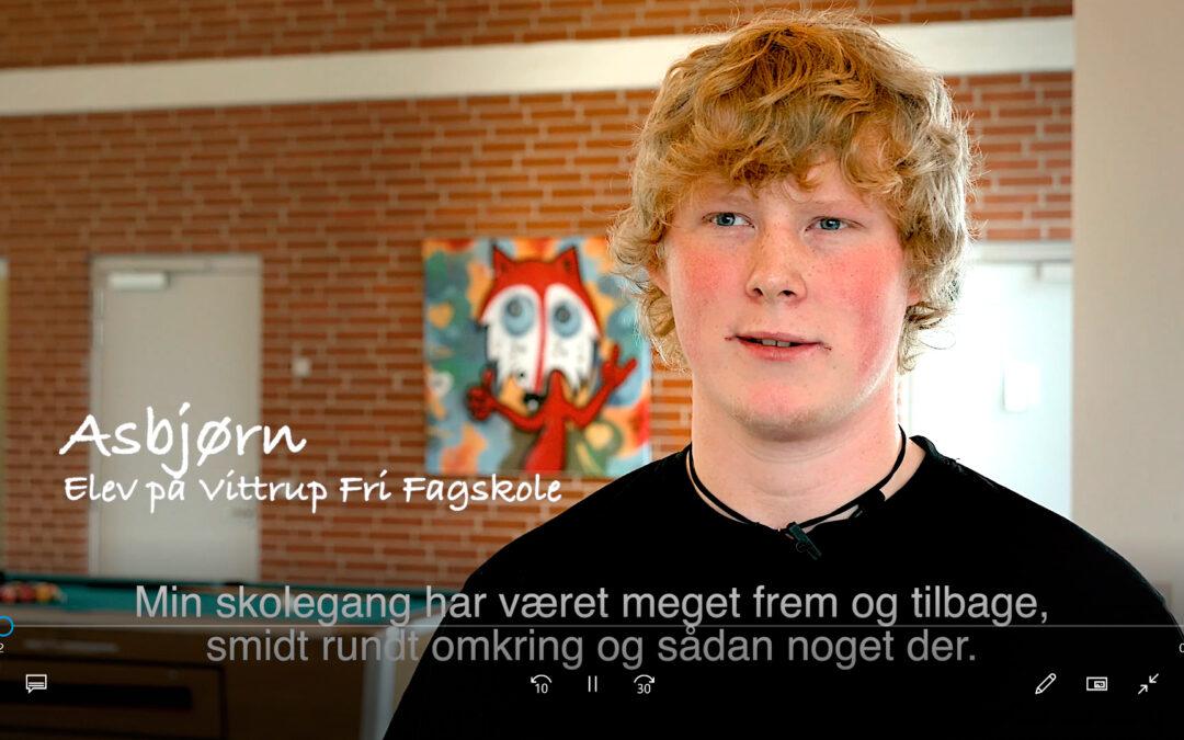 Asbjørn fortæller om sit ophold på Vittrup Fri Fagskole
